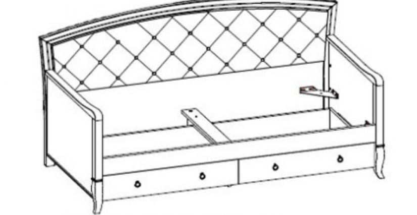 Размеры (ШхГхВ): 2072×1000×998  Спальное место - 1900х900х180