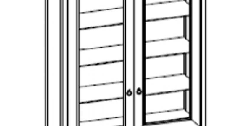 Тип фасада: стекло Размеры (ШхГхВ): 1172×458×2082