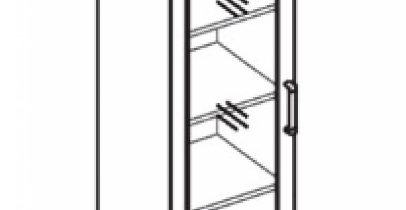 Шкаф с витриной  Тип фасада - ДСП Размеры (ВхШхГ): 2360х450х428