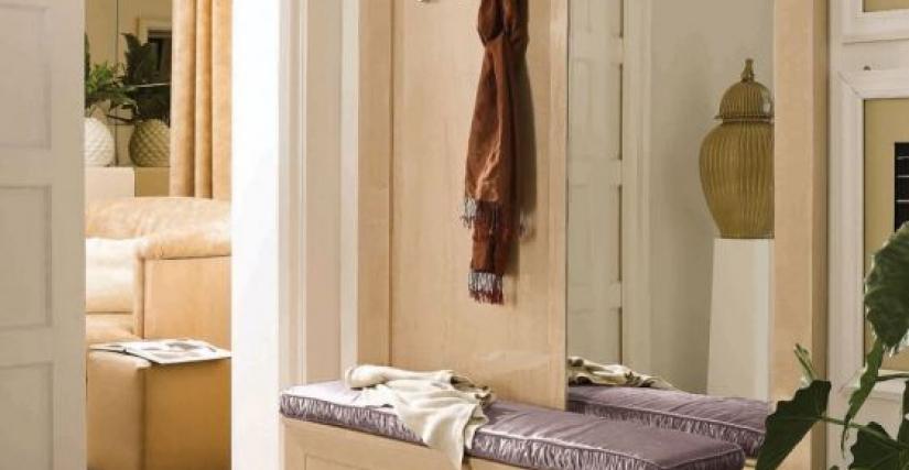 Прихожая с зеркалом и тумбой Арт. MU545 Размеры: Ш 162 Г 42 В 215