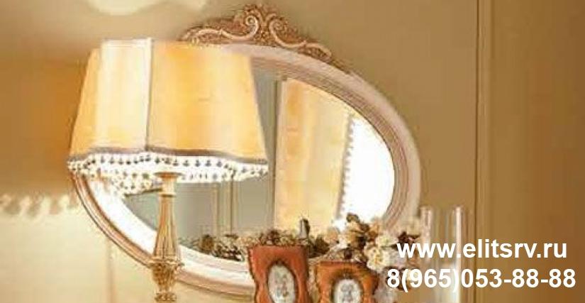 Зеркало для комода PRINCIPE LACCATO фабрики Valderamobili  Spalni-Italii  Спальни поэлементно  Итальянские зеркала  Valderamobili  Ширьянское зеркало овальное с резьбой PRINCIPE LACCATO фабрики Valderamobili