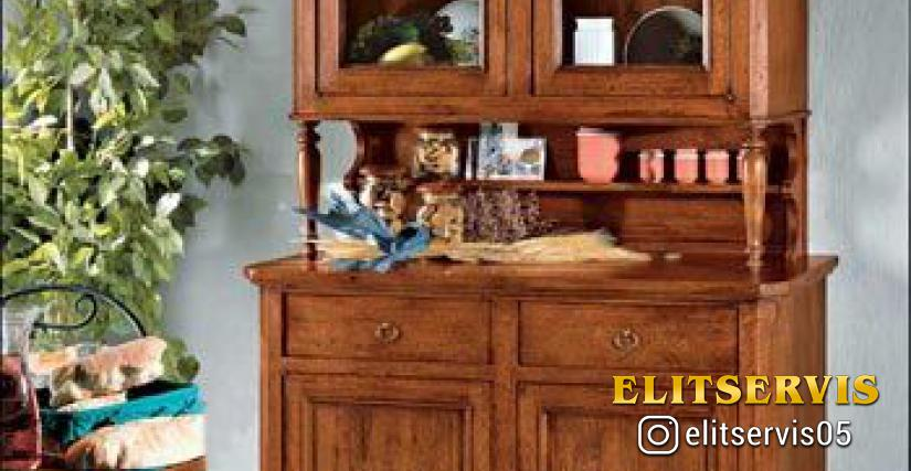 Art. A374 Old Wooden Sideboard L/W. 114 P/D. 44 H. 100