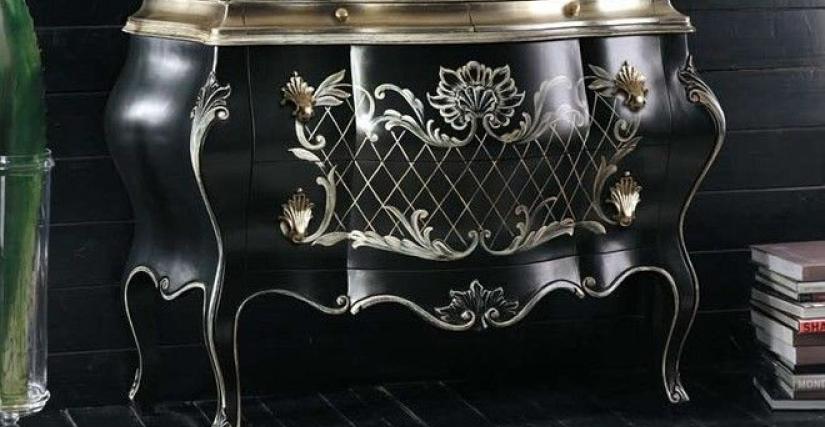 Коллекция Exclusive line Комод арт. Е129 размер L133 D52 H91