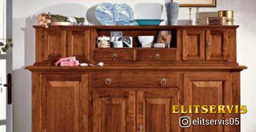 Art. A380 Old Wooden Sideboard L/W. 213 P/D. 50 H. 110