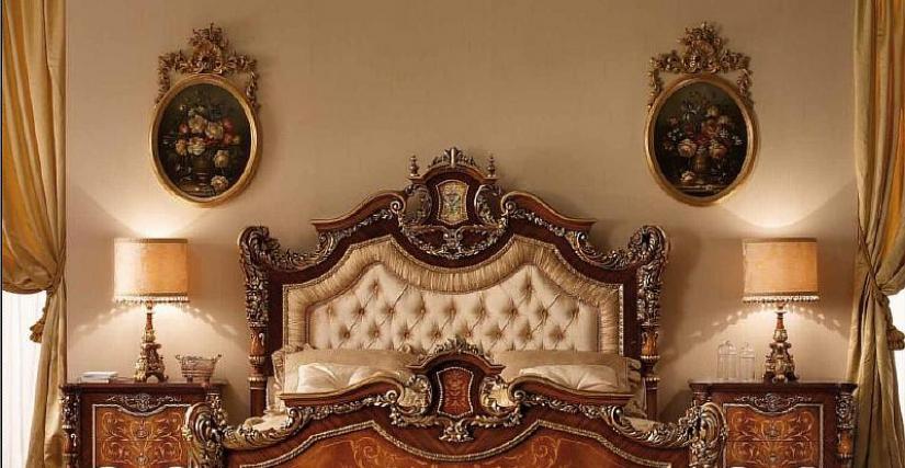Кровать 1060 Параметры: Ширина: 213 см. Высота: 188 см. Глубина: 227 см