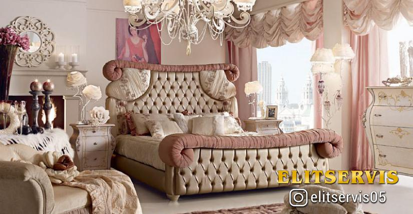 Кровать Fiocco Размеры: L. 215 P. 250 H. 160
