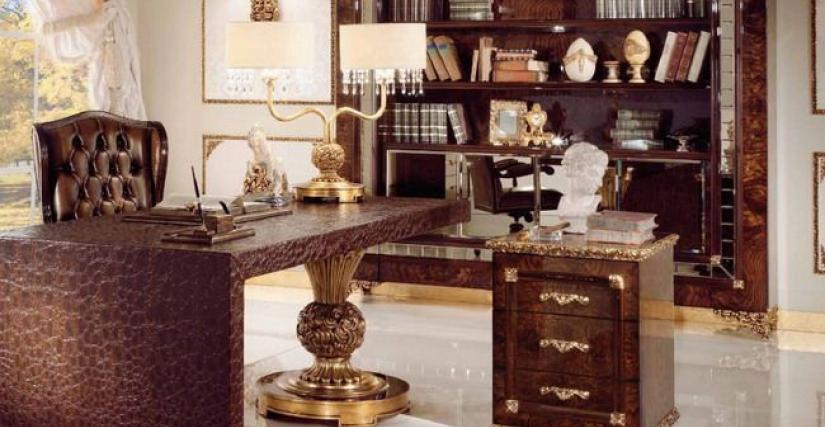 Стол письменный L200 P90 H80 Тумба L72 P72 H82 Книжный стеллаж L234 P43 H237 Кресло L80 P66 H 120