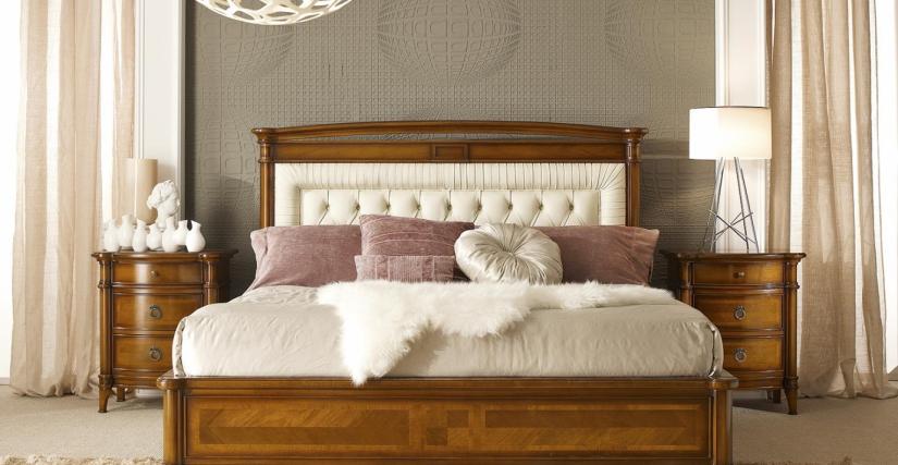Кровать с кожаным изголовьем Арт. 92/Р Размеры: Ш 180 Г 206 В 129 Тумба прикроватная Арт. 94 Размеры: Ш 60 Г 39 В 70