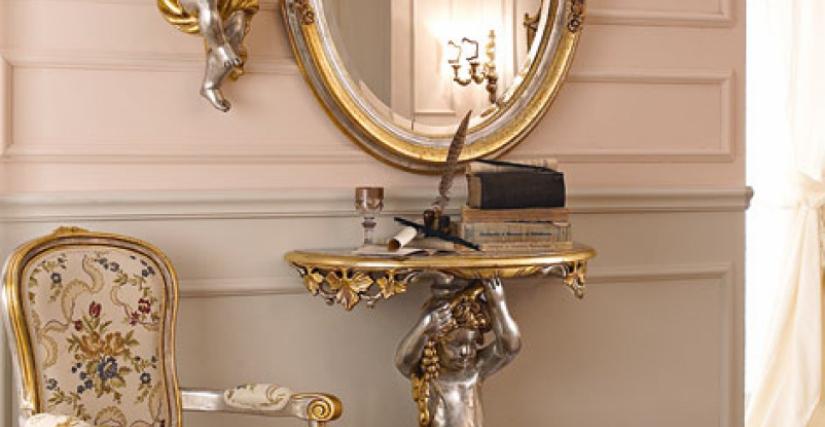 • 1535 консольный столик (L05) cm. 70 x 35 x 94 h. • 1112 зеркало (L05) cm. 78 x 97 h. • 1536 ангел с лютней (L05) cm. 26 x 56 h. • 1536 ангел с флейтой (L05) cm. 26 x 56 h.