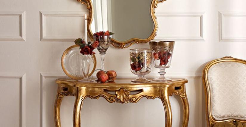 • 3019 консольный столик (L29) cm. 98 x 34 x 83 h. • 461 зеркало (L29) cm. 68 x 95 h.