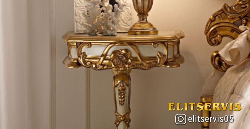• 2021 прикроватный столик (L02) cm. 46 x 36 x 65 h. • 923/P настольная лампа с абажуром (L05) cm. ø 25 x 40 h.