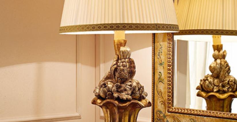 • 959 настольная лампа с абажуром (L08 состаривание) cm. ø 50 x 97 h.