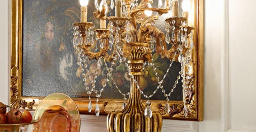 • 946/10 лампа со стеклянными подвесками (L07) cm. ø 55 x 115 h.