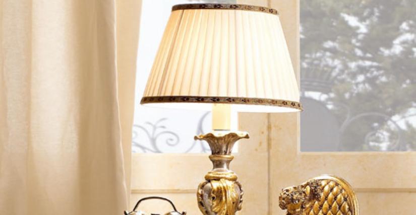 • 929/1 настольная лампа с абажуром (L05) cm. ø 25 x 48 h.