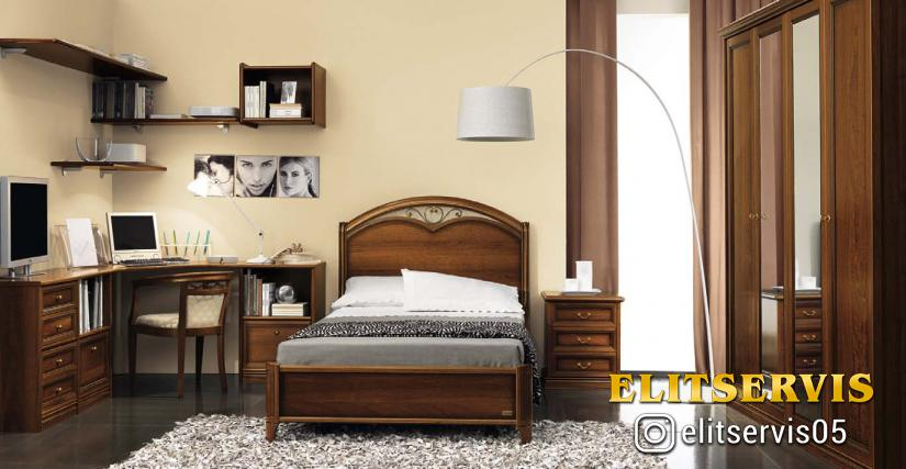 Кровать 140x200 арт.36 Размеры: Ш.157 Г.221 В.121/40  Компьютерный стол арт.10 Размеры: Ш.130 Г.60 В.79