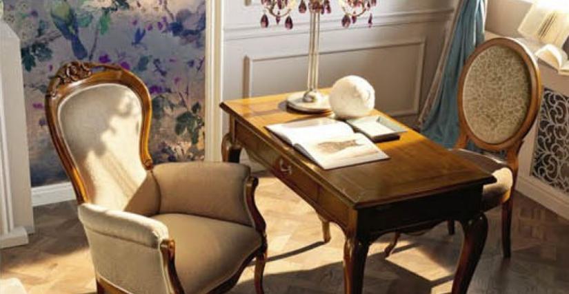 Письменный стол Размеры: Ш 113 Г 58 В 81 Стул K87 Размеры: Ш 51 Г 54 В 105 Кресло K86 Размеры: Ш 75 Г 75 В 107