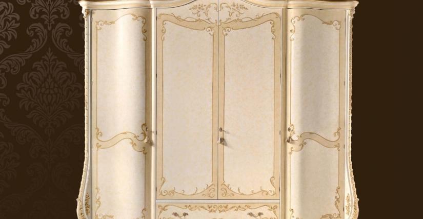 Шкаф 4-х дверный Арт. 1301/L Размеры: Ш 293 Г 71 В 263