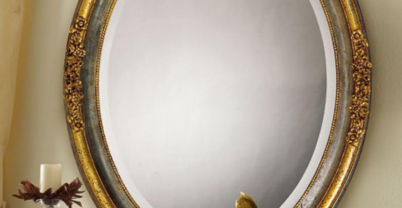 • 1107 овальное зеркало (L05) cm. 85 x 110 h.