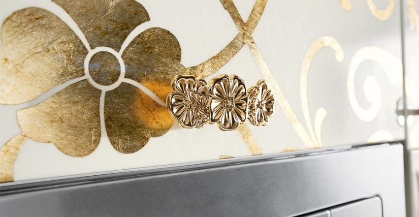 ALESSIA LACCATO Crema - Foglia Oro Anticato