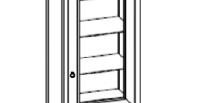 Тип фасада: стекло Размеры (ШхГхВ): 672×458×2082