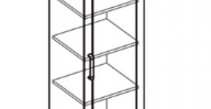Шкаф 1 дв.  Тип фасада - ДСП Размеры (ВхШхГ): 2360х450х628