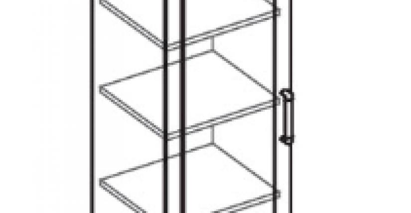 Шкаф для белья  Тип фасада - ДСП Размеры (ВхШхГ): 2360х450х428