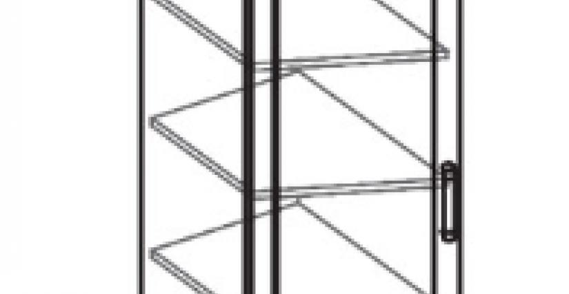 Шкаф переходной  Тип фасада - ДСП Размеры (ВхШхГ): 2360х411х628
