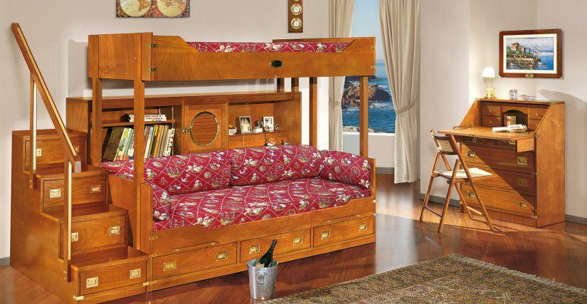 Двухъярусная кровать с софой