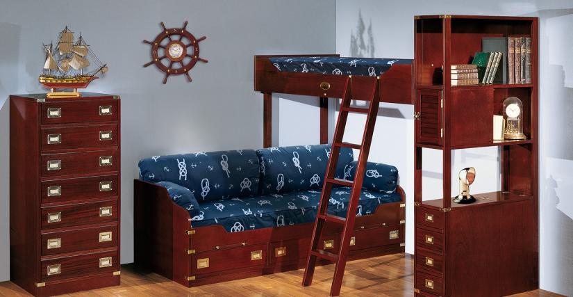 Двухъярусная кровать с изолированными местами