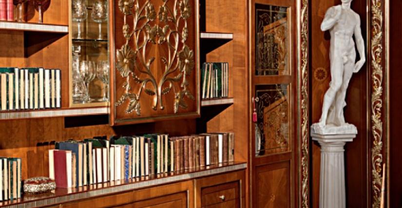 Большой книжный шкаф 435