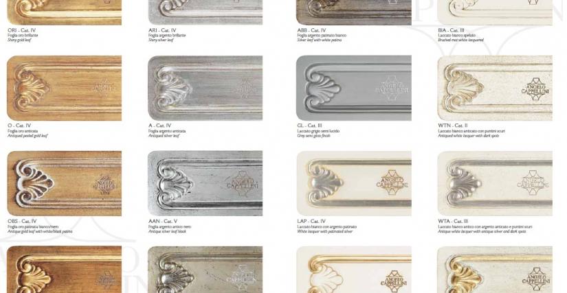 Варианты отделки коллекции Finiture Legno