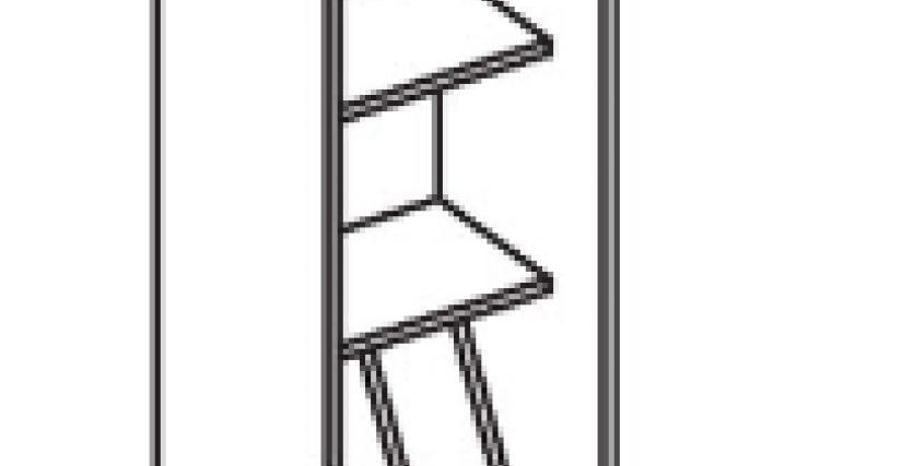 Шкаф для книг  Тип фасада - ДСП Размеры (ВхШхГ): 2360х450х428