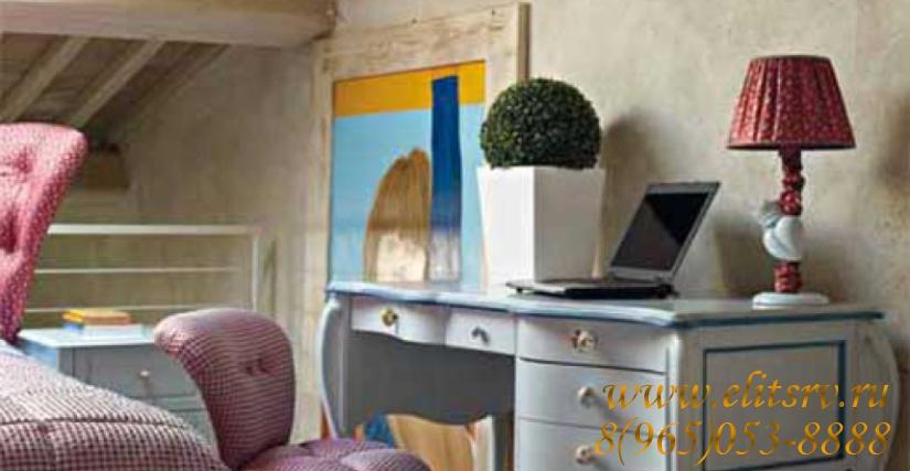 Письменный стол Giulietta Арт. 1247 Размер: Ш 135 Г 67 В 81 Пуф Giulietta/sp Арт. 2153 Размеры: Ш 54 Г 65 В 80