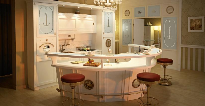 Кухня со стойкой Bolina