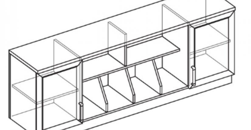 Шкаф настенный  Тип фасада - ДСП Размеры (ВхШхГ): 750х1960х422