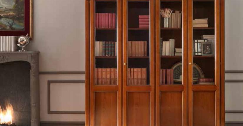 Библиотека 4-х дверная. 204х42х214