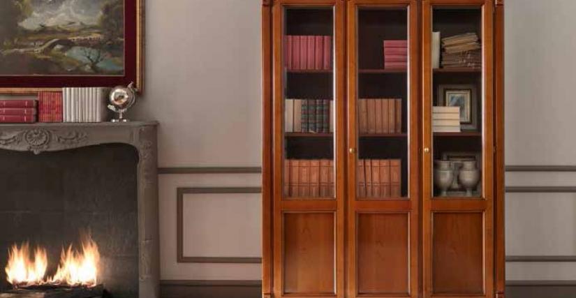 Библиотека 3-х дверная. 158х42х214