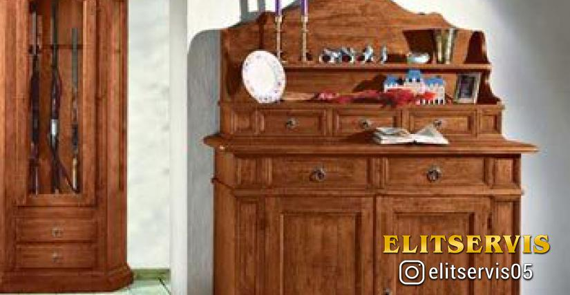 Art. A376 Old Wooden Sideboard L/W. 137 P/D. 50 H. 98