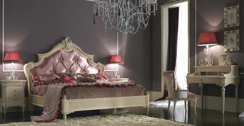 Кровать Maggiolini Материал: дерево, текстиль