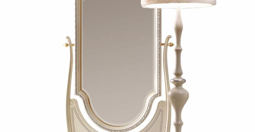 Зеркало напольное Арт. 9010 Размеры: Ш 106 Г 39 В 200 Торшер Арт. 9020 Размеры: В 178