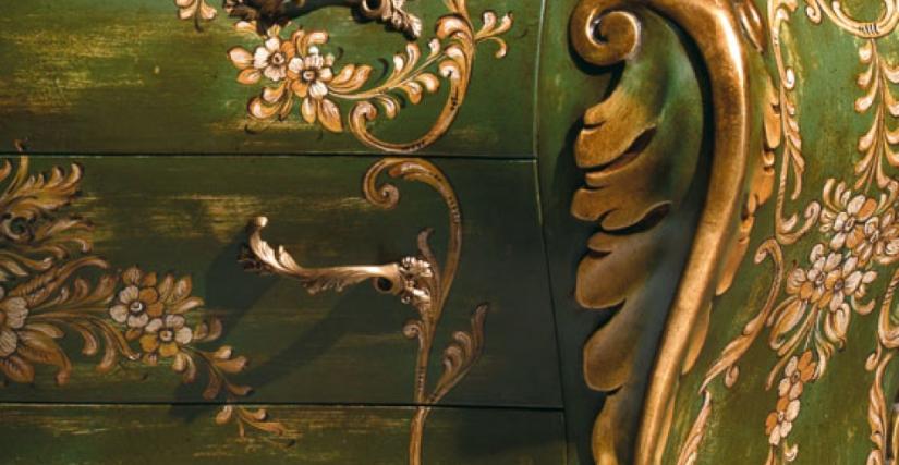 • 283/D комод (зеленый с декором) cm. 139 x 58 x 97 h.