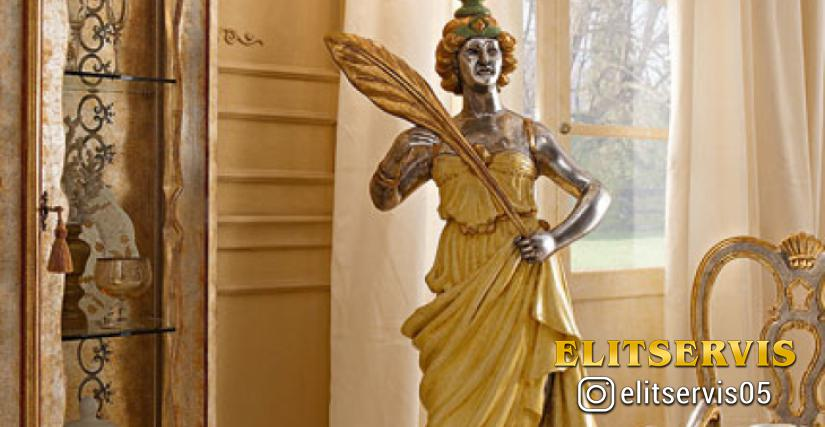 """• 522-10/L статуя """"grazia"""" с факелом cm. 60 x 220 h."""