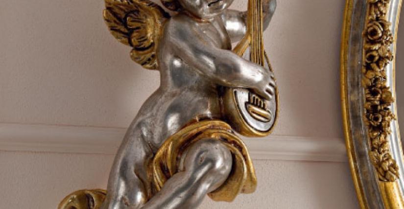• 1536 ангел с лютней (L05) cm. 26 x 56 h.
