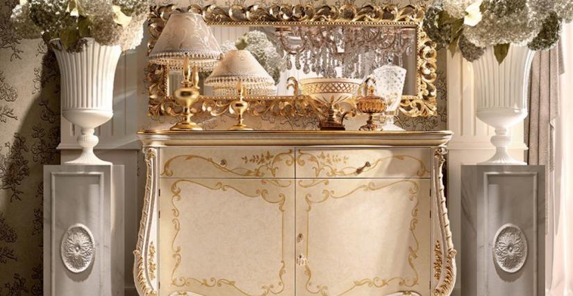 Буфет 2-х дверный Арт. 1352/L Размеры: Ш 187 Г 58 В 115 Зеркало Арт. 310 Размеры: Ш 188 В 72