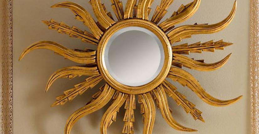"• 1113 зеркало ""солнце"" (L04) cm. ø 112"