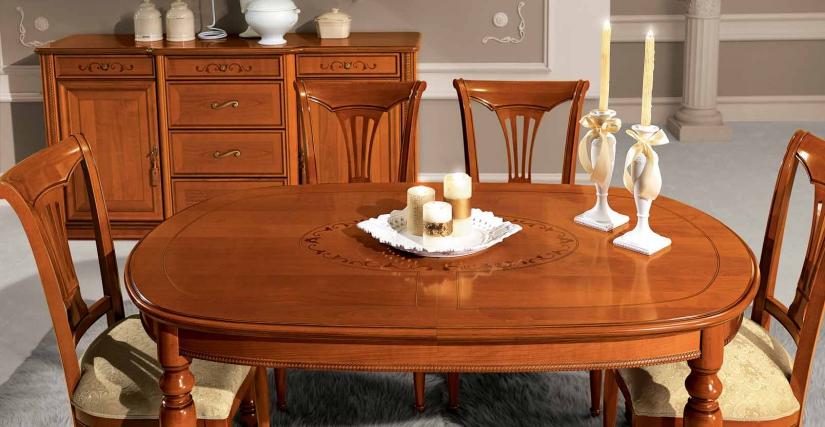 Овальный раздвижной стол Размеры: Ш.160/205 Г.100 В.80