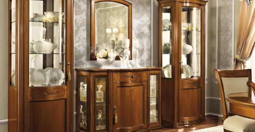 Угловая витрина с зеркальной стенкой, левая Размеры: Ш.89 Г.63/63 В.208 Угловая витрина с зеркальной стенкой, правая Размеры: Ш.89 Г.63/63 В.208  Трёхдверный комод-бар MINI Размеры: Ш.130 Г.55 В.97